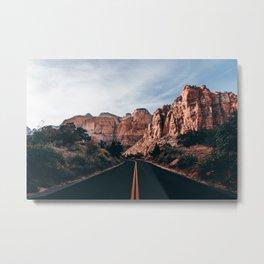 Roads of Zion Metal Print