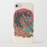 demon iPhone & iPod Cases featuring Demon by MIRKOW GASTOW