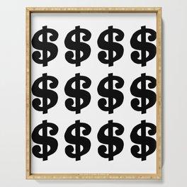 Black Dollars Serving Tray
