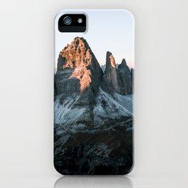 Dolomites sunset panorama - Landscape Photography iPhone Case