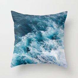 Ocean Waves Aerial Throw Pillow