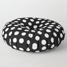 Black and White Polka Dot Pattern Floor Pillow