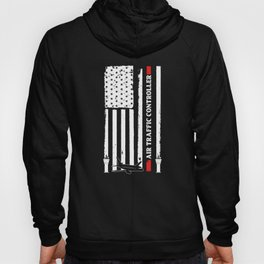 Air Traffic Controller US Flags ATC Flight Control print Hoody