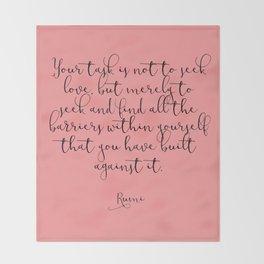 Love by Rumi Throw Blanket