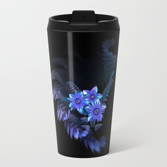 Flower Fantasy Metal Travel Mug