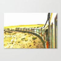 train Canvas Prints featuring Train by Mr and Mrs Quirynen