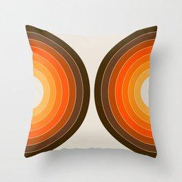 Golden Sonar Throw Pillow