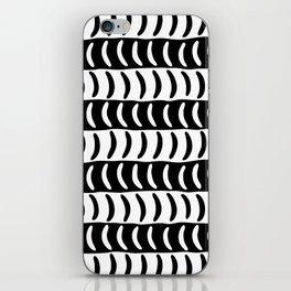Wavy Stripes Black and White 2 iPhone Skin