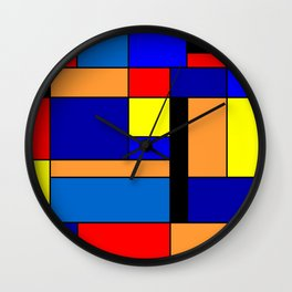 Mondrian #2 Wall Clock