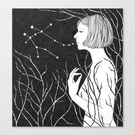 Under Stars (Aurora Aksnes) Canvas Print