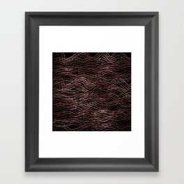 sparkling rose waves Framed Art Print