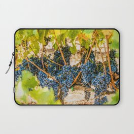 Ripe Grapes on Vine Laptop Sleeve