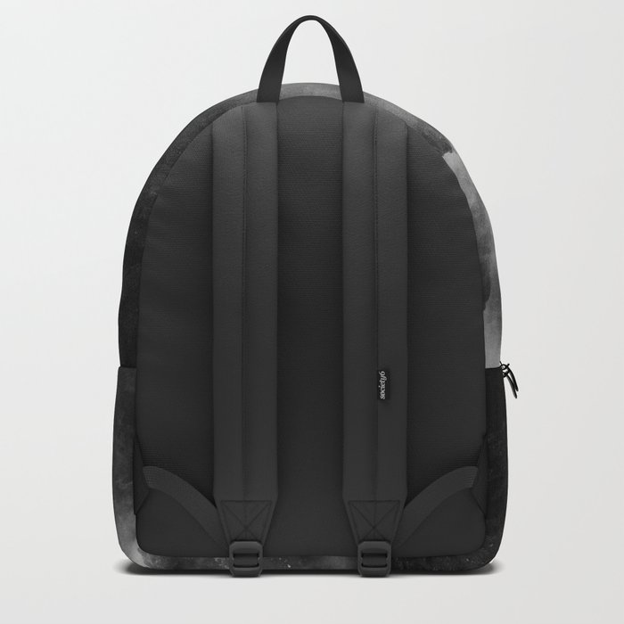 Foggy Mountains Black and White Backpack