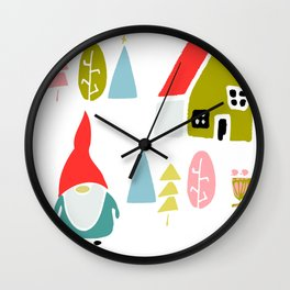 Christmas gnome Wall Clock