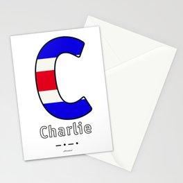 Charlie - C - Navy Alphabet Stationery Cards