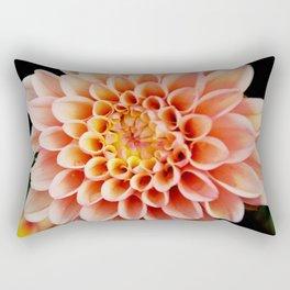 Light Orange Dahlia Rectangular Pillow