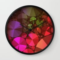 "diamonds Wall Clocks featuring ""Diamonds"" by Mr and Mrs Quirynen"