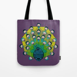 a peacock for krystee Tote Bag