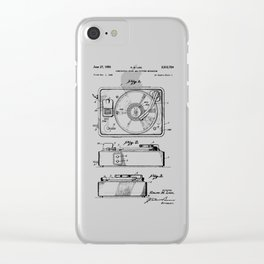 Turntable Patent Clear iPhone Case