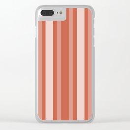 Dark Coral Victorian Lady Stripe Clear iPhone Case
