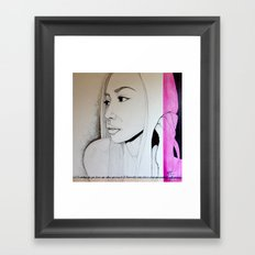 Love is a language, Can't you read Framed Art Print