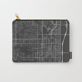 Scottsdale Map, USA - Gray Carry-All Pouch