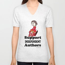 Support Independent Authors Unisex V-Neck