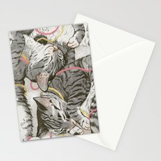 cats gold and rose Stationery Cards
