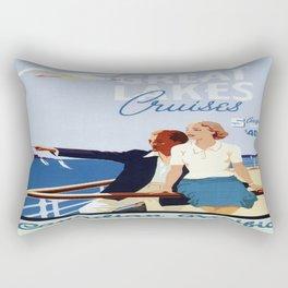 Vintage poster - Great Lakes Cruises Rectangular Pillow