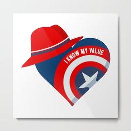 Superhero Heart Agent Metal Print