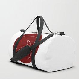 Relaxing Cat in claret circle Duffle Bag