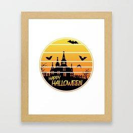 Halloween Kids Spooky Pumpkin Poison T-Shirt Framed Art Print