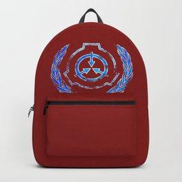 SCP foundation blue crest symbol Backpack