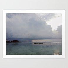 storm over the sea Art Print