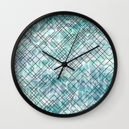 Square Waves Wall Clock