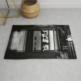 London Underground Black and White Print London Tube Poster  Rug
