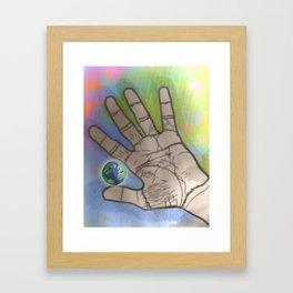 In my hand Framed Art Print