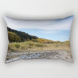 Bow River on a fall afternoon Rectangular Pillow