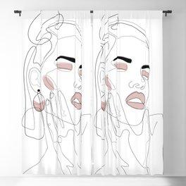 Blush Splash Blackout Curtain