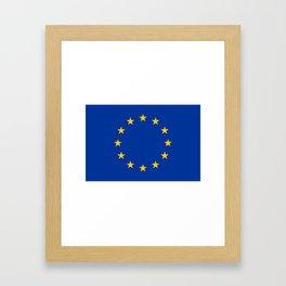 European Flag Framed Art Print