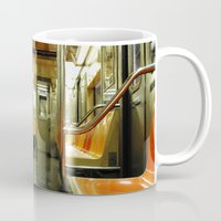 subway Mugs featuring Subway by Bryan McKinney