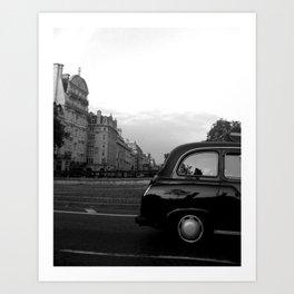 LONDON  BLACK CAB Art Print
