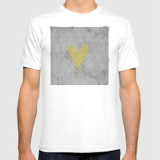 HappyHeart SMALL White Mens Fitted Tee