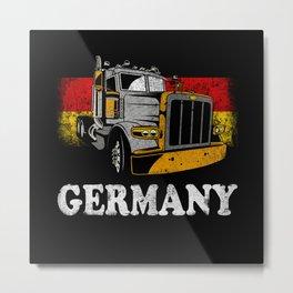 German Trucker Metal Print