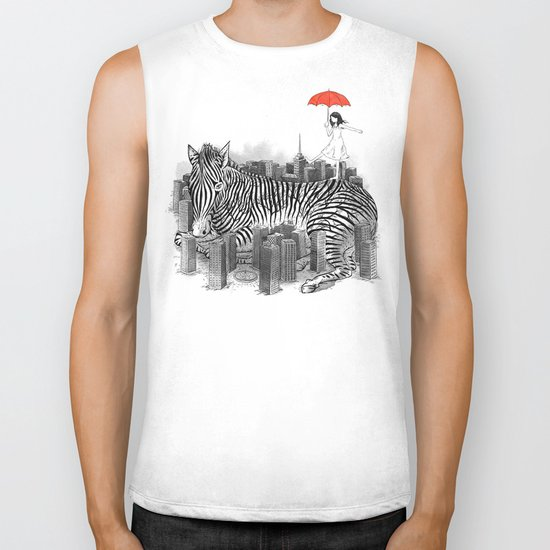Crossing Zebra Biker Tank