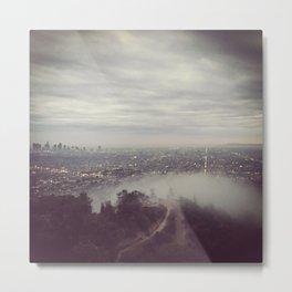 Foggy Los Angeles Metal Print