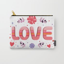 Flora Love Boho Style Carry-All Pouch