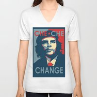 che V-neck T-shirts featuring CHE CHE CHANGE by MDRMDRMDR