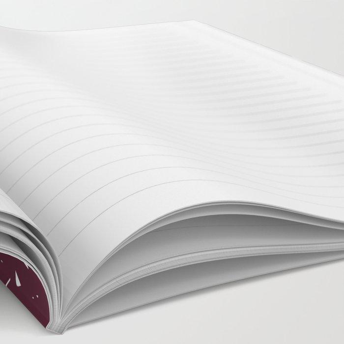 Deep Burgandy Cross-stitch Notebook