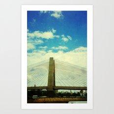 Estaiada Bridge Art Print